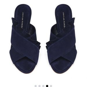 Loeffler Randall ruffle slide sandals
